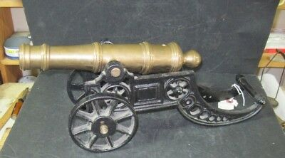 Cannon- Brass Barrel And Iron Carriage.  Large Working Piece
