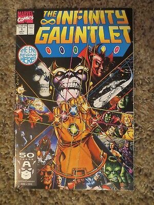 the infinity gauntlet #1 (july 1991 marvel) jim starlin thanos NM+