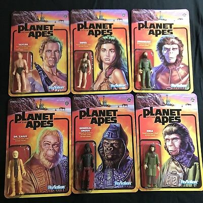 "PLANET OF THE APES - FULL SET - 3.75"" ReAction  Action Figure  Super7 BAPE"