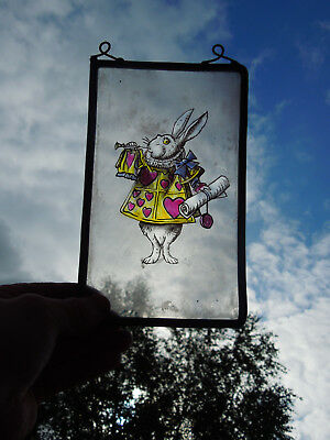 Interesting Stained Glass Nursery Alice In Wonderland Rabbit Decorative Interior