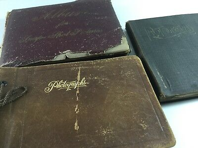 LOT of 3 Small Vintage Snapshot albums (1910s - 1920s) with 400+  Photos