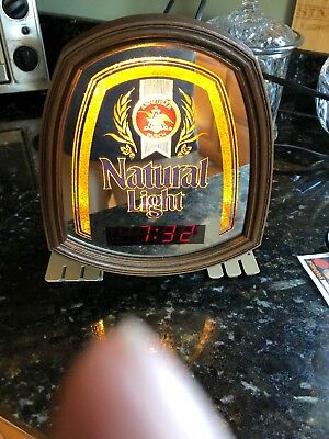 Natural Light Beer Sign Clock Anheuser Busch Cash Register Clock