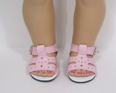 """LT BLUE Fisherman BUCKLE Sandals Doll Shoes For 18/"""" American Girl Debs"""