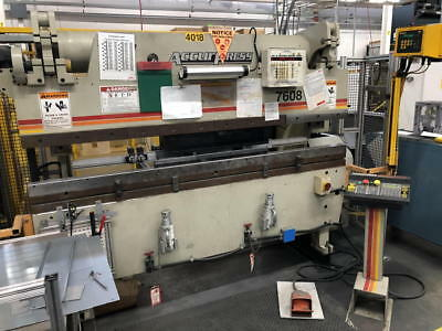 """2003 ACCURPRESS CNC HYD PRESS BRAKE, 60 -Ton X 96"""" Bed, SAFETY & MUCH MORE!"""