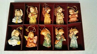 The M.I. Hummel Angels Of Christmas Ornament Collection of 10 The Danbury Mint