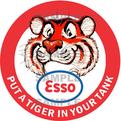 2 Inch Esso Tiger Gasoline Gas Station Decal Sticker Several Sizes Available