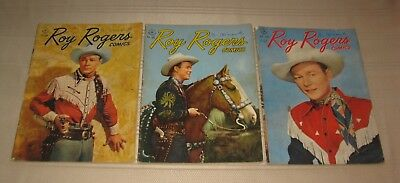 Vintage Dell Western Comic Book Roy Rogers 1947 Lot of 3  FREE SHIPPING