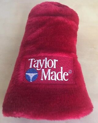 Red Vintage Taylormade #1 Wood Driver Head Cover Plush Golf Free Shipping EUC