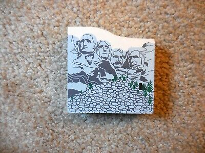 Cat's Meow Mt. Mount Rushmore Shelf Sitter Wood 1995 3 x 3 Signed Faline 98