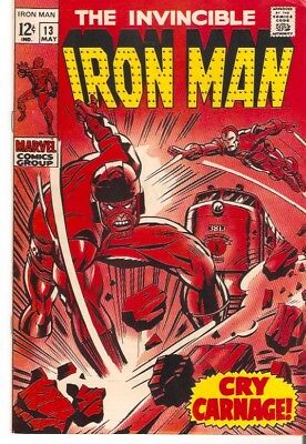 """Marvel Comics -THE INVINCIBLE IRON MAN #13 MAY 1969 """"CAPTIVES OF THE CONTROLLER"""""""