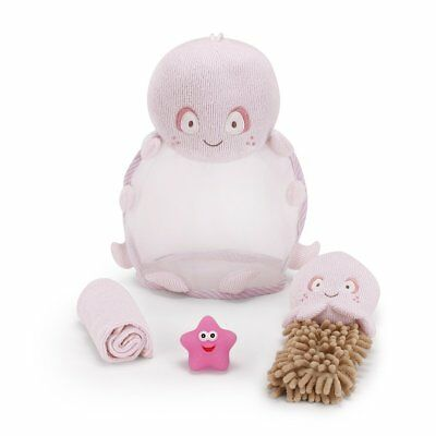 New DEMDACO Splish Splash 4 Piece Bath Gift Set for Baby, Octopus