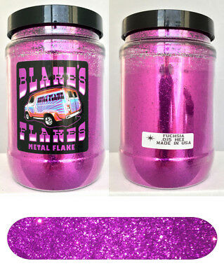 1lb Blakes Metal Flake .015 Fuchsia Hot Rod Custom Automotive