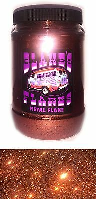 1lb Blakes Metal Flake .015 Aprikose Orange Hot Rod Custom Automotive