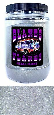 1lb Blakes Metal Flake .004 Alpha Silber Prismatische Hot Rod Custom Automotive