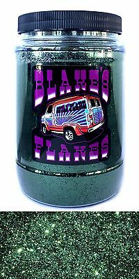 1lb Blakes Metal Flake .015 Jägergrün Dunkel Hot Rod Custom Automotive