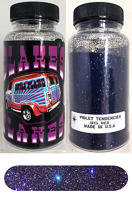 Blakes Metal Flake .015 Violett Tendenzen Prismatische Lila Hot Rod Custom 2oz