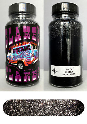 Blakes Metal Flake .015 BLACK Hot Rod custom automotive 2oz jar