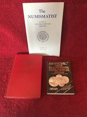 Vintage Lot Of 3 Numismatics Books Coin Collecting