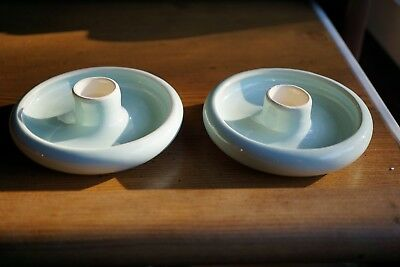 Vintage Australian Pottery-Martin Boyd-Candle Holders-Signed Martin Boyd