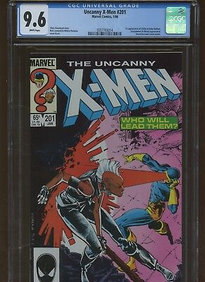 Uncanny X-Men 201 CGC 9.6 | Marvel 1986 | 1st Cable as Baby Nathan.
