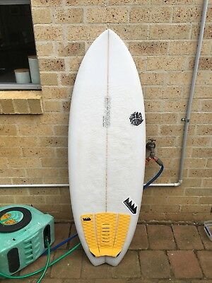 5'0 hand shaped surfboard fun board channel bottom in great condition