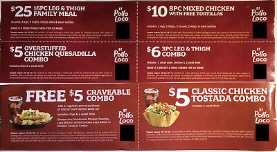 Active El Pollo Loco Promo Codes & Deals for June 12222