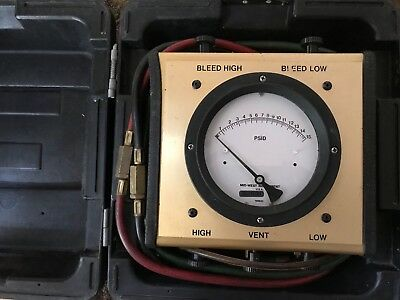 Mid-West Instrument Backflow Model 830 Test Kit in Good Condition w Case