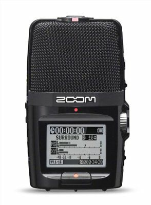 Zoom H2nUK Portable Recorder in Black with SD Card 2 GB