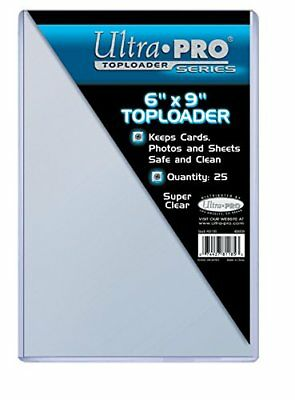 Ultra Pro Accessories 6 x 9 Inch Toploaders 25 Count, Clear, 6x9