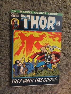 the mighty thor #203 (sep 1972 marvel) bronze age F+
