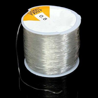 New 100M 0.8mm Clear Stretch Elastic Beading Cord String Thread Spool Supply