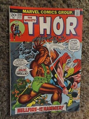 the mighty thor #210 (april 1973 marvel) bronze age VF