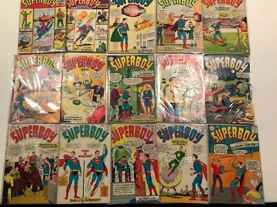 SUPERBOY SUPER SALE Comic Lot. Mostly 12 cent books. Some 80 pg Giants. 43 books