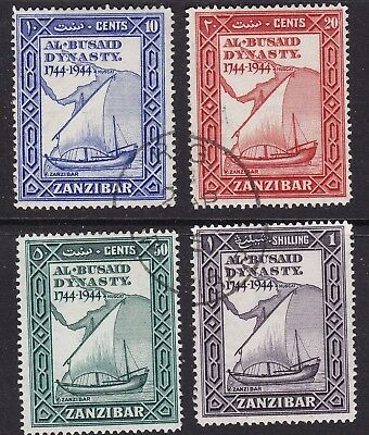 Zanzibar 1944 set of 4 S.G.227/30 used
