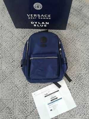 100% AUTHENTIC! Versace parfums Designer Backpack Limited Edition blue gucci 11882a0b694c4