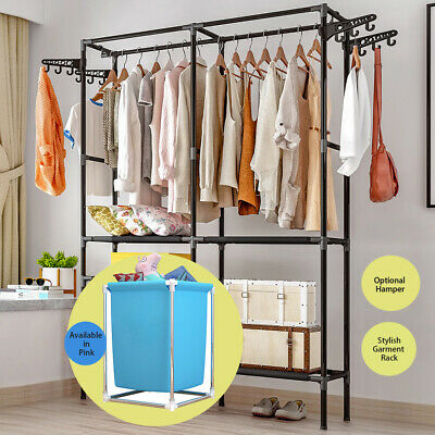 Clothes Cloth Rack Hanger Garment Portable Shoe Rack Hat Hook