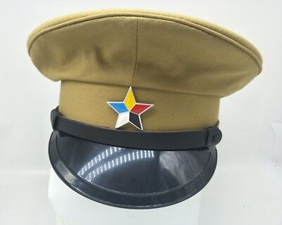 Military War Chinese Army Traitor Hat Officers Imperial Cap Size M