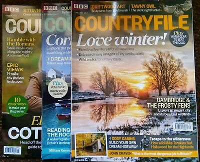 Bbc Countryfile Magazine (3 Copies From 2017)