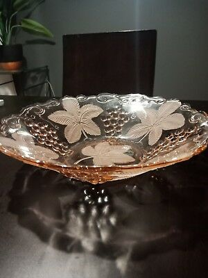 Retro Vintage Pink Glass Bowl