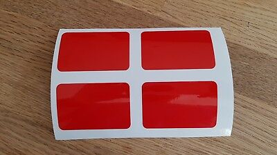 Reflective Motorcycle Helmet Safety Stickers for riding in france RED