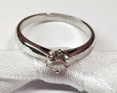 18ct Solid White Gold ring with 0.45ct Diamonds Val $4290 #086
