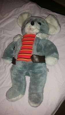 50yr old Vintage Plush Mouse 60cm Removable Jacket Nic Nac Toys Made in Korea