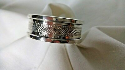 Hallmarked Birmingham H. Griffith & Sons 1950 Silver Napkin Ring Exc. Condition.
