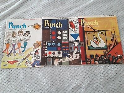 x 3 Punch Magazines 1963