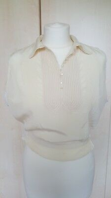 Vintage original silk cream suit blouse - early 20th century