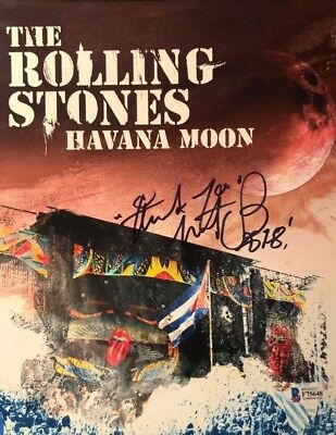 Charlie Watts Rolling Stones signed autographed 8x10 photo Havana Moon BECKETT