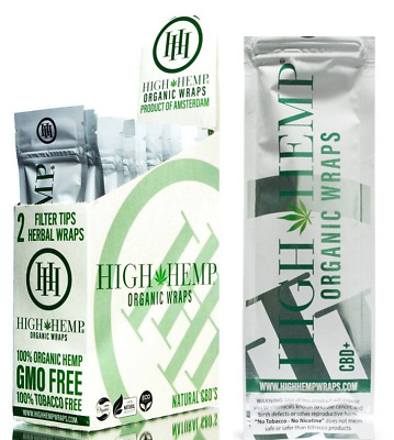 High Original Wraps (2) Full Boxes 50 Packs 100 Wraps Total Organic + Tips