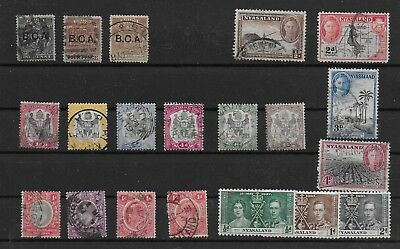 3472: British Central Africa; selection of 20 stamps. Arms, Edward. 1891-1945