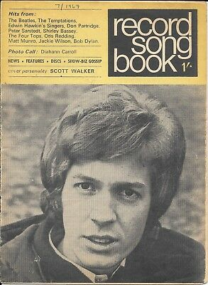 vintage record Songbook lyric paper July 1969 Beatles Bob Dylan Cliff