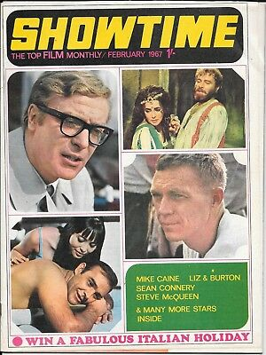 vintage showtime film magazine feb 1967 James Bond 007 poster